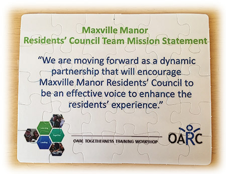 Residents' Council Team Mission Statement
